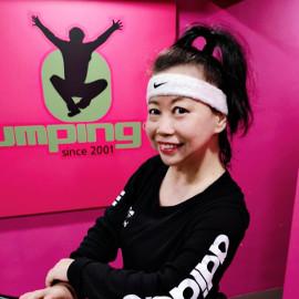Jumping instructor Justina